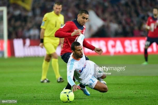 Dimitri PAYET / Alaixys ROMAO Lille / Marseille 32eme journee de Ligue 1 Photo Dave Winter / Icon Sport