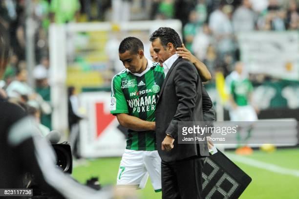 Dimitri PAYET / Christophe GALTIER - - Saint Etienne / PSG - 38eme journee de Ligue 1,