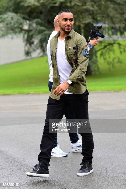 Dimitri Payet of France arrives at Centre National du Football on October 2 2017 in Clairefontaine en Yvelines France