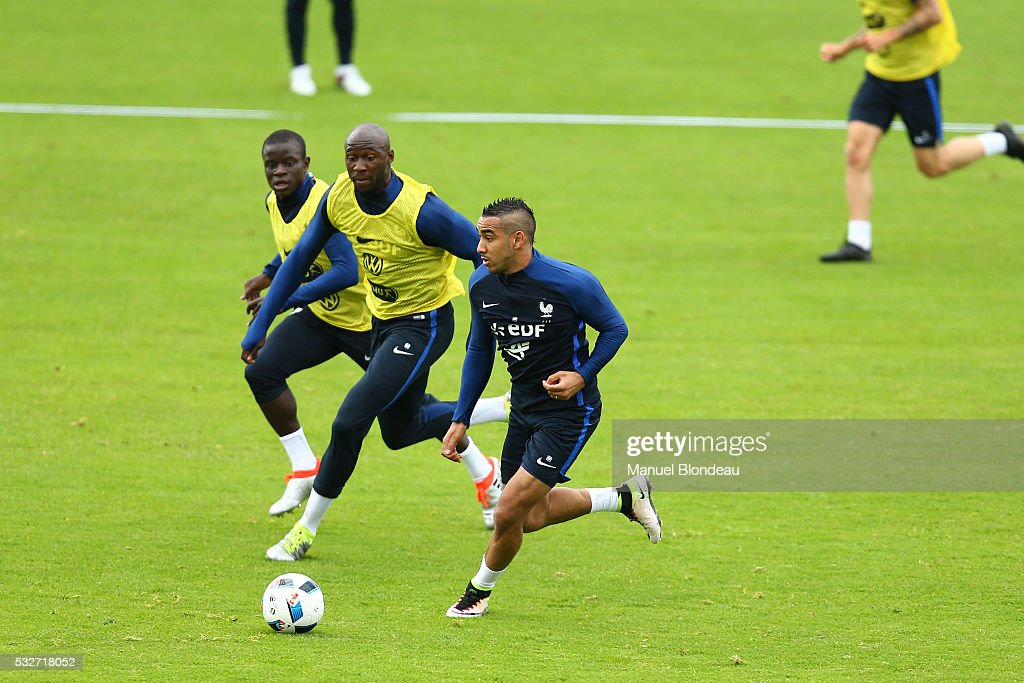Dimitri Payet of France during a training session during the preparation on the French football Team for Euro 2016 on May 19, 2016 in Biarritz, France.
