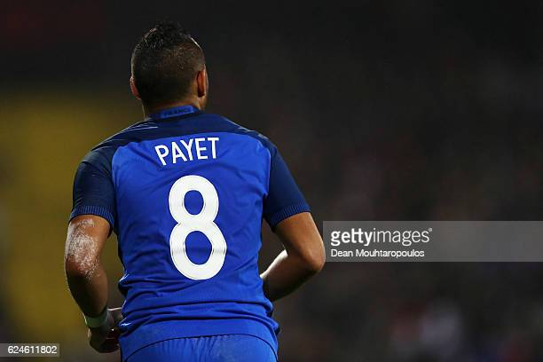 Dimitri Payet of France in action during the International Friendly match between France and Ivory Coast held at Stade Felix Bollaert Deleis on...