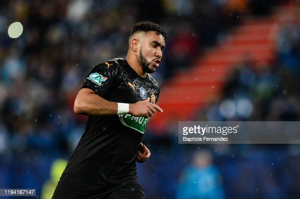 Dimitri PAYET of Marseille celebrates his goal during the French Cup Soccer match between US Granville and Olympique de Marseille at Stade Michel...