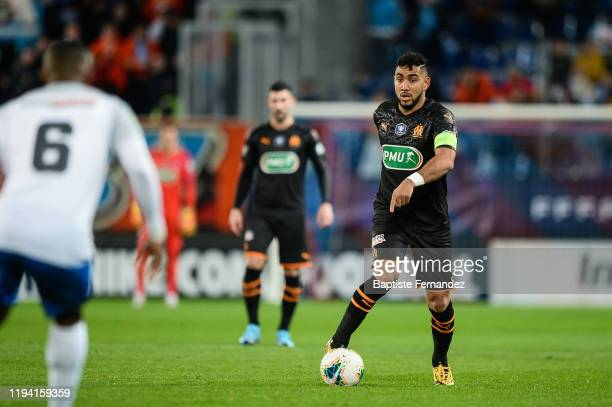 Dimitri PAYET of Marseille during the French Cup Soccer match between US Granville and Olympique de Marseille at Stade Michel D'Ornano on January 17...