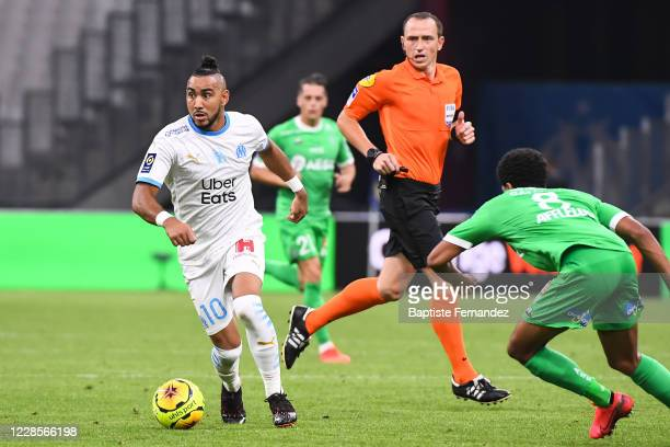 Dimitri PAYET of Marseille during the French Ligue 1 soccer match between Marseille and Saint Etienne at Stade Velodrome on September 17, 2020 in...