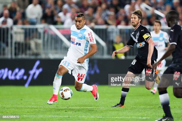 Dimitri Payet of Marseille during the Ligue 1 match between Girondins de Bordeaux and Olympique de Marseille at Nouveau Stade de Bordeaux on May 14...