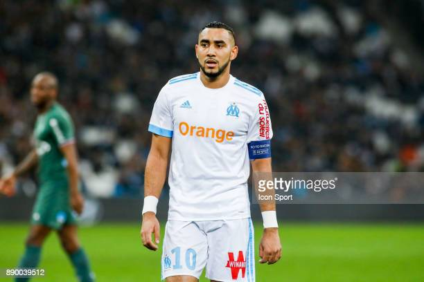 Dimitri Payet of Marseille during the Ligue 1 match between Olympique Marseille and AS SaintEtienne at Stade Velodrome on December 10 2017 in...