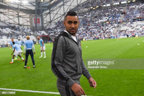 Dimitri Payet of Marseille during the Ligue 1 match between Olympique Marseille and Amiens SC at Stade Velodrome on May 19 2018 in Marseille