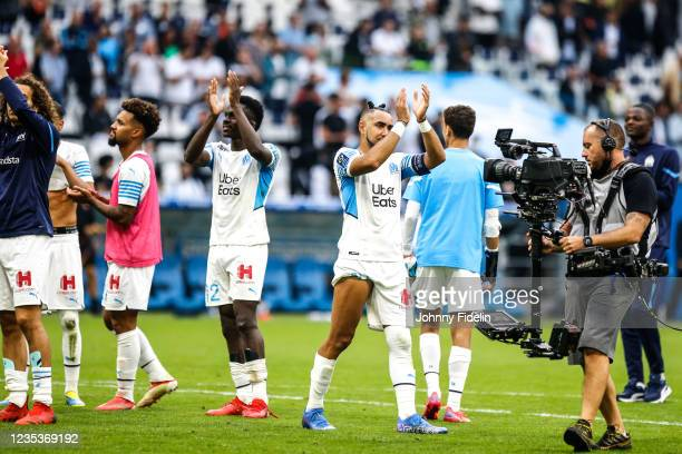 Dimitri PAYET of Marseille during the Ligue 1 Uber Eats match between Marseille and Rennes at Orange Velodrome on September 19, 2021 in Marseille,...