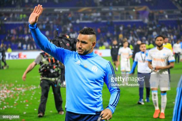 Dimitri Payet of Marseille looks dejected after the Europa League Final match between Marseille and Atletico Madrid at Groupama Stadium on May 16...