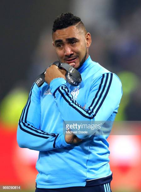 Dimitri Payet of Marseille looks dejected following the UEFA Europa League Final between Olympique de Marseille and Club Atletico de Madrid at Stade...