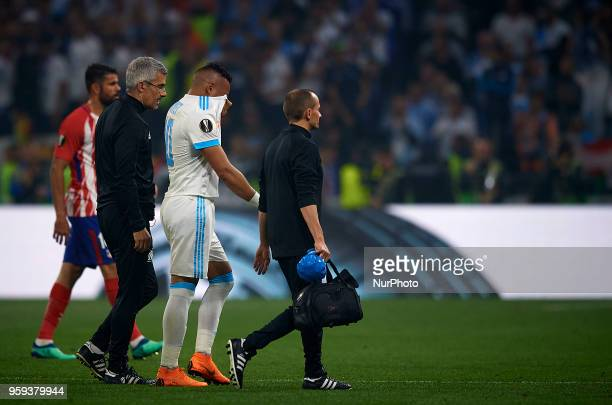 Dimitri Payet of Olympique de Marseille leave the pitch during the UEFA Europa League final match between Atletico de Madrid against Olympique de...