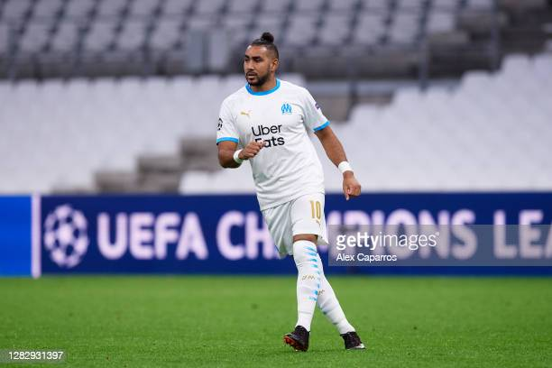 Dimitri Payet of Olympique de Marseille looks on during the UEFA Champions League Group C stage match between Olympique de Marseille and Manchester...
