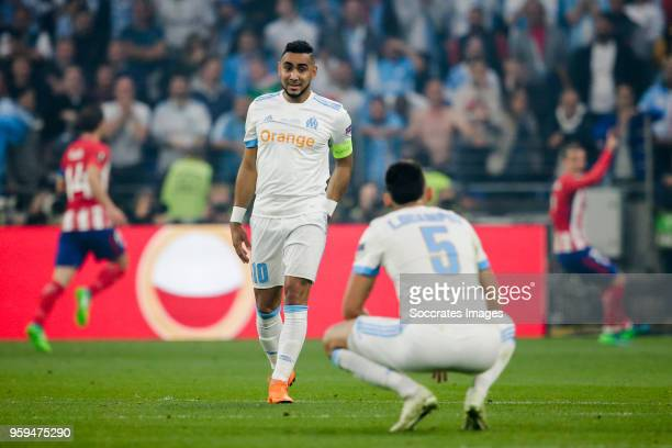 Dimitri Payet of Olympique Marseille disappointed after the 01 during the UEFA Europa League match between Olympique Marseille v Atletico Madrid at...