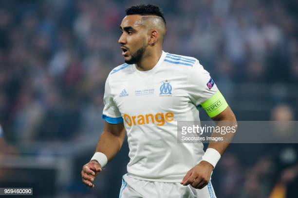 Dimitri Payet of Olympique Marseille during the UEFA Europa League match between Olympique Marseille v Atletico Madrid at the Parc Olympique Lyonnais...