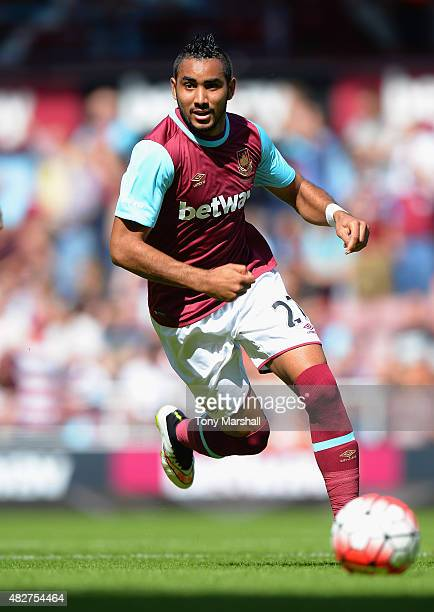 Dimitri Payet of West Ham United during the Pre Season Friendly match between West Ham Utd and SV Werder Bremen at Boleyn Ground on August 2 2015 in...