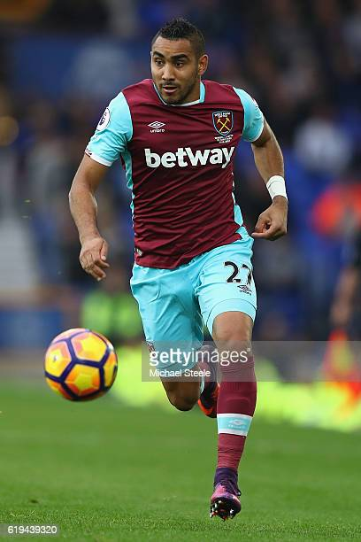 Dimitri Payet of West Ham United during the Premier League match between Everton and West Ham United at Goodison Park on October 30 2016 in Liverpool...