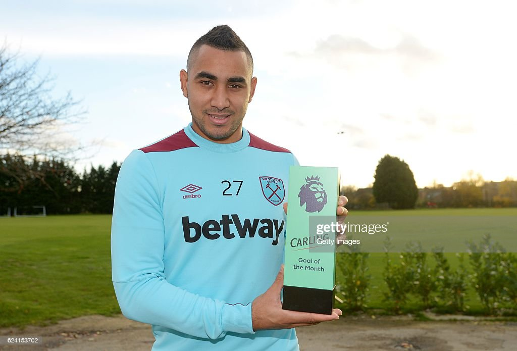 Dimitri Payet Receives the October Goal of the Month Award : News Photo