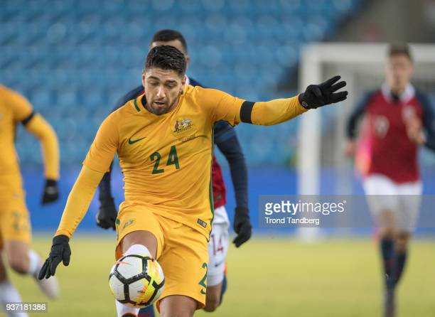 Dimitri Petratos of Australia during International Friendly between Norway v Australia at Ullevaal Stadion on March 23 2018 in Oslo Norway