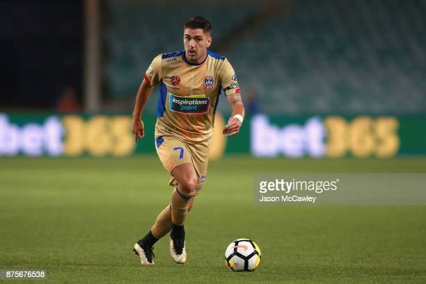 Dimitri Petratos of the Jets controls the ball during the round seven ALeague match between Sydney FC and Newcastle Jets at Allianz Stadium on...