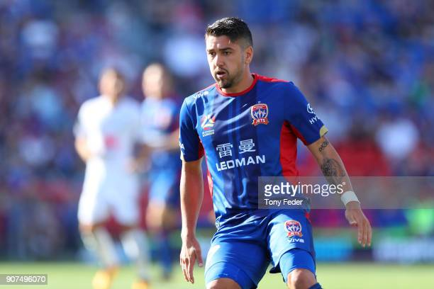 Dimitri Petratos of the Jets during the round 17 ALeague match between the Newcastle Jets and Wellington Phoenix at McDonald Jones Stadium on January...