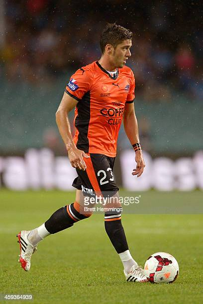 Dimitri Petratos of the Roar runs with the ball during the round 12 ALeague match between Sydney FC and Brisbane Roar at Allianz Stadium on December...