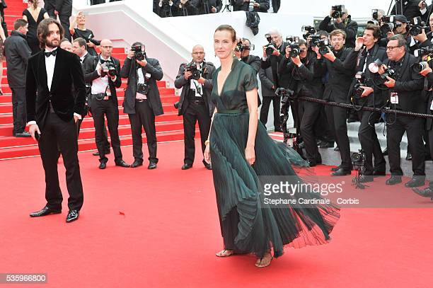 Dimitri Rassam and Carole Bouquet at the 'FoxCatcher' Premiere during the 67th Cannes Film Festival