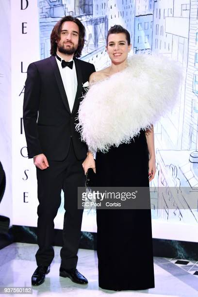Dimitri Rassam and Charlotte Casiraghi arrive at the Rose Ball 2018 To Benefit The Princess Grace Foundation at Sporting Monte-Carlo on March 24,...