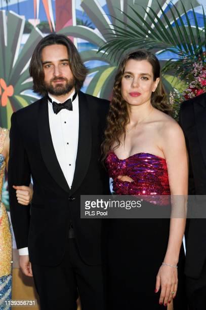 Dimitri Rassam and Charlotte Casiraghi attend the Rose Ball 2019 to benefit the Princess Grace Foundation on March 30, 2019 in Monaco, Monaco.