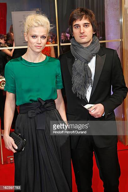Dimitri Rassam and his wife Masha Novoselova arrive to attend the Cesar Film Awards 2013 at Theatre du Chatelet on February 22, 2013 in Paris, France.