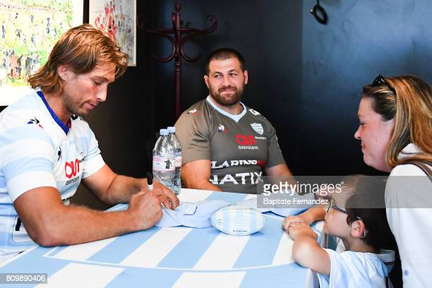 Dimitri Szarzewski and Vasil Kakovin new signing player of Racing 92 during press conference of Racing 92 on July 6 2017 in Paris France