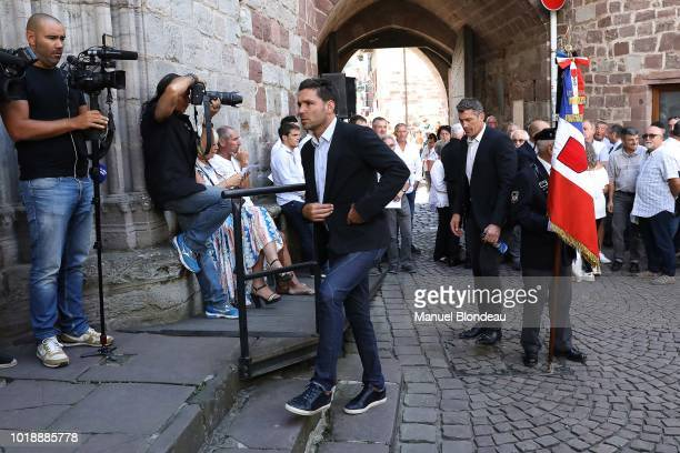 Dimitri Yachvili is seen at the burial of Pierre Camou in Saint Jean Pied de Port during the Funeral of former rugby player Pierre Camou on August 18...