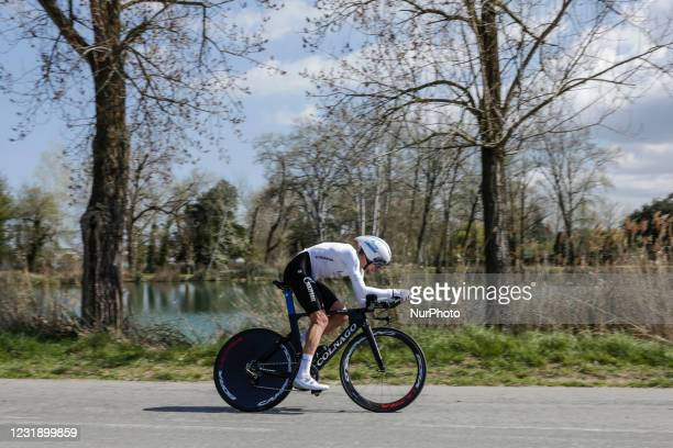 Dimitrii Starkhov from Russia of Gazprom - RusVelo during the 100th Volta Ciclista a Catalunya 2021, Stage 2 Individual Time Trial from Banyoles to...
