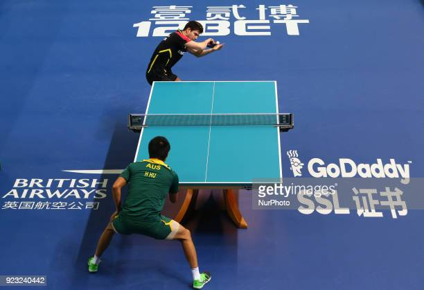 Dimitrij OVTCHAROV of Germany during 2018 International Table Tennis Federation World Cup match between Dimitrij OVTCHAROV of Germany against Heming...