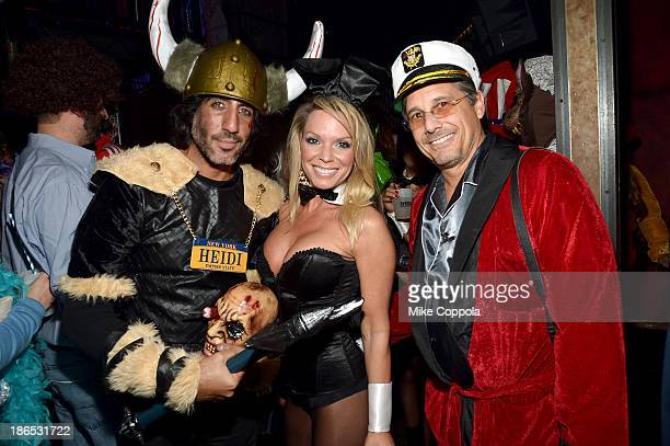 Dimitrios Kambouris Jennifer Mazur and Kevin Mazur attend Shutterfly Presents Heidi Klum's 14th Annual Halloween Party sponsored by SVEDKA Vodka and...