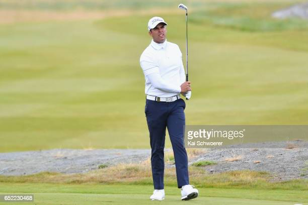 Dimitrios Papadatos of Australia looks on during day four of the New Zealand Open at Millbrook Resort on March 12 2017 in Queenstown New Zealand