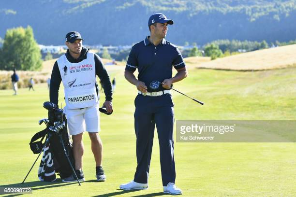 Dimitrios Papadatos of Australia looks on during day two of the New Zealand Open at The Hills on March 10 2017 in Queenstown New Zealand