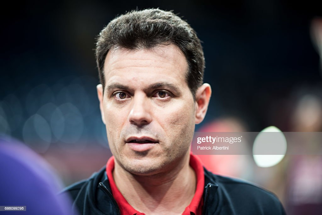 Dimitris Itoudis, Head Coach of CSKA Moscow during the 2017 Turkish Airlines EuroLeague Final Four CSKA Moscow Practice at Sinan Erdem Dome on May 20, 2017 in Istanbul, Turkey.
