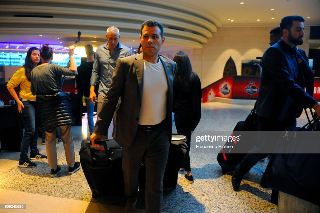Dimitris Itoudis, #Head Coach of CSKA Moscow during the CSKA Moscow Arrival to participate of 2018 Turkish Airlines EuroLeague F4 at Hyatt Regency Hotel on May 16, 2018 in Belgrade, Serbia.