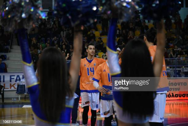 Dimitris Margelis forward of Kymi BC during Griechenland Basket League match between Kymis BC and AEK Athens BC in Chalkida Greece on November 17...