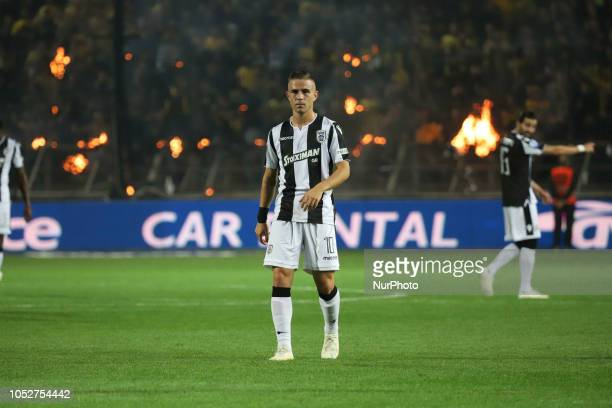 Dimitris Pelkas during the match between FC ARIS vs FC PAOK 12 game for the Superleague Greece the first category in Thessaloniki Greece on 21...