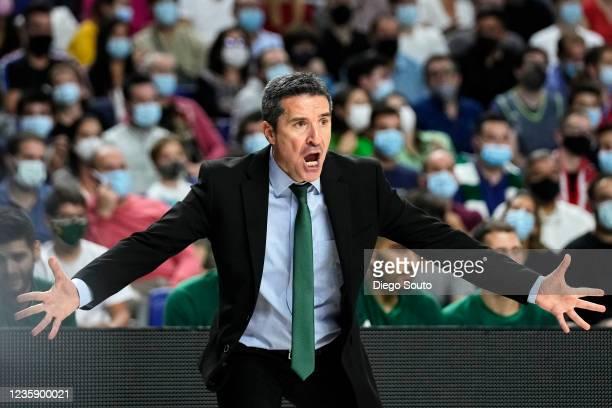 Dimitris Priftis, Head Coach of Panathinaikos Opap Athens during the Turkish Airlines EuroLeague Regular Season Round 4 match between Real Madrid and...