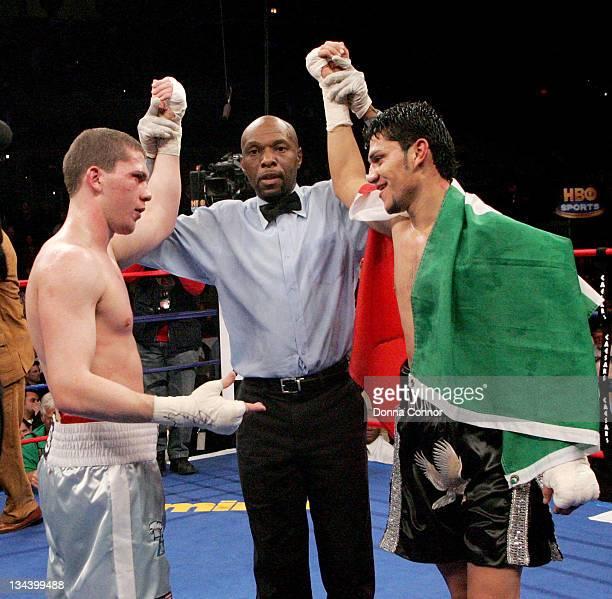 Dimitriy Salita and Ramon Montano during WBC Heavyweight Championship Fight - Hasim Rahman vs James Toney - March 18, 2006 at Boardwalk Hall in...
