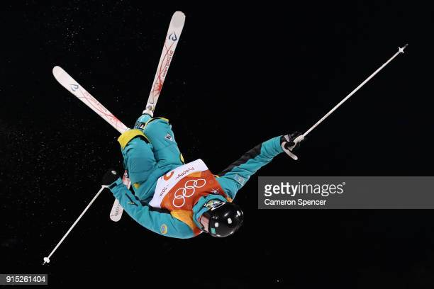 Dimitry Reikherd of Kazhakstan competes during Moguls practice ahead of the PyeongChang 2018 Winter Olympic Games at Phoenix Park on February 7 2018...