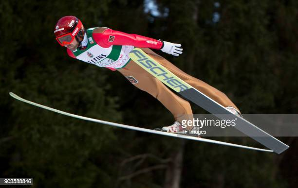 Dimitry Vassiliev of Russia competes during the FIS Ski Jumping World Cup on December 09 2017 in TitiseeNeustadt Germany