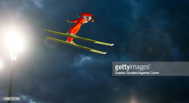 Dimitry Vassiliev of Russia in action during the FIS Ski Jumping World Cup Vierschanzentournee on December 30 2012 in Oberstdorf Germany