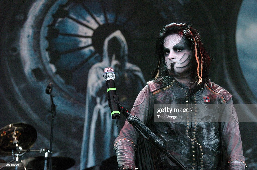 Dimmu Borgir during OzzFest 2004 Tour Opener at CTNow Meadows in Hartford, Conneticut, United States.