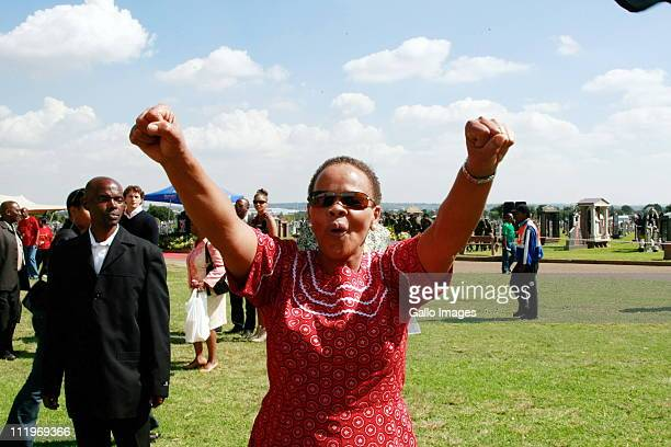 Dimpho Hani celebrates the 18th anniversary of the assassination of communist and struggle stalwart Chris Hani on April 10 2011 in Johannesburg South...