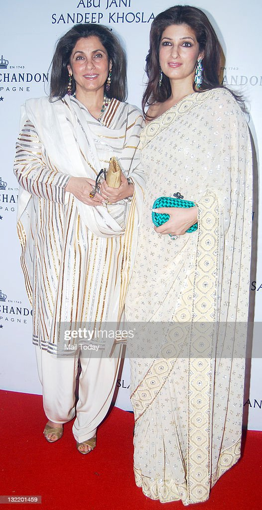 Dimple Kapadia with daughter Twinkle Khanna at designers Abu Jani and Sandeep Khosla`s 25th year bash at the Grand Hyatt Mumbai