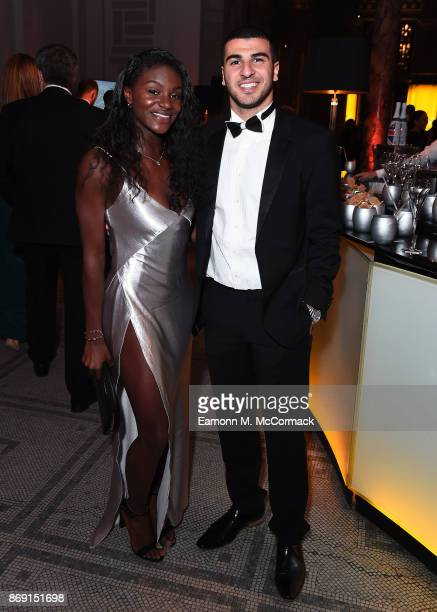 Dina Asher Smith and Adam Gemili attend the Team GB Ball at Victoria and Albert Museum on November 1 2017 in London England