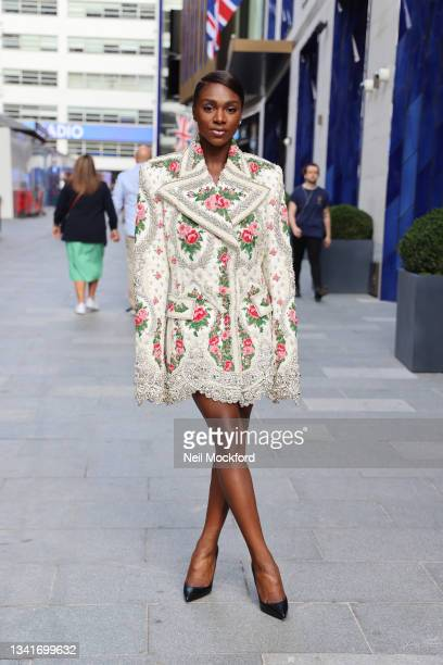 Dina Asher-Smith attends Richard Quinn at The Londoner Hotel during London Fashion Week September 2021 on September 21, 2021 in London, England.